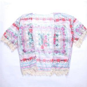 Tops - Boho Tassle Kimono